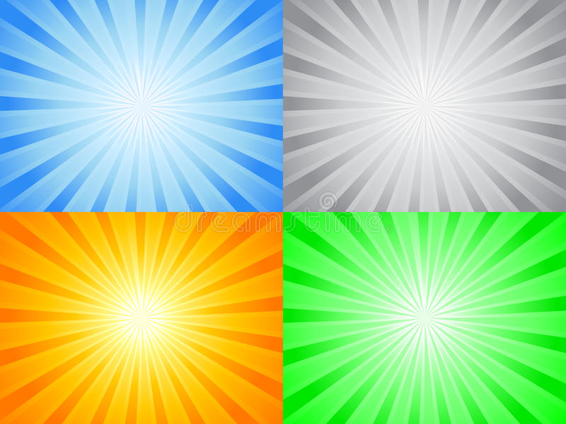 Abstract color sun stock illustration