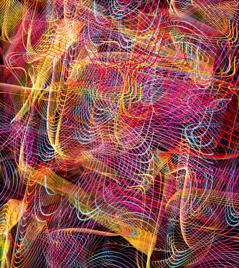 Abstract Color Tech Art Background Stock Illustration - Illustration ...