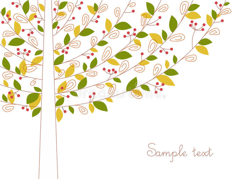 Abstract color tree vector illustration