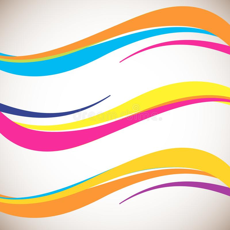 Abstract color wave design element. Smooth dynamic soft style on light background. Vector illustration royalty free illustration