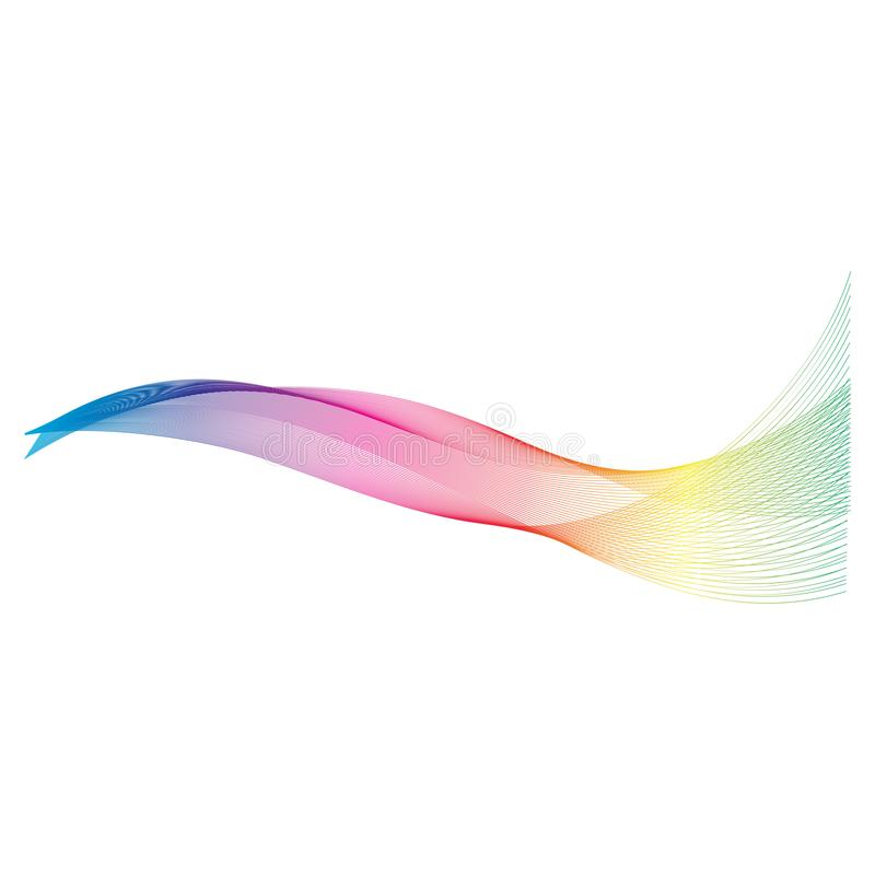Abstract color wave flow design. Element, blue, green, bacground, vector, line, curve, water, nature, smoke, technology, effect, motion, white, modern, shape vector illustration
