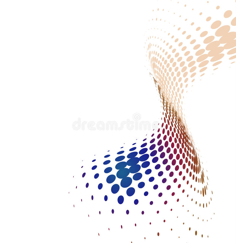 Abstract color wave halftone stock illustration