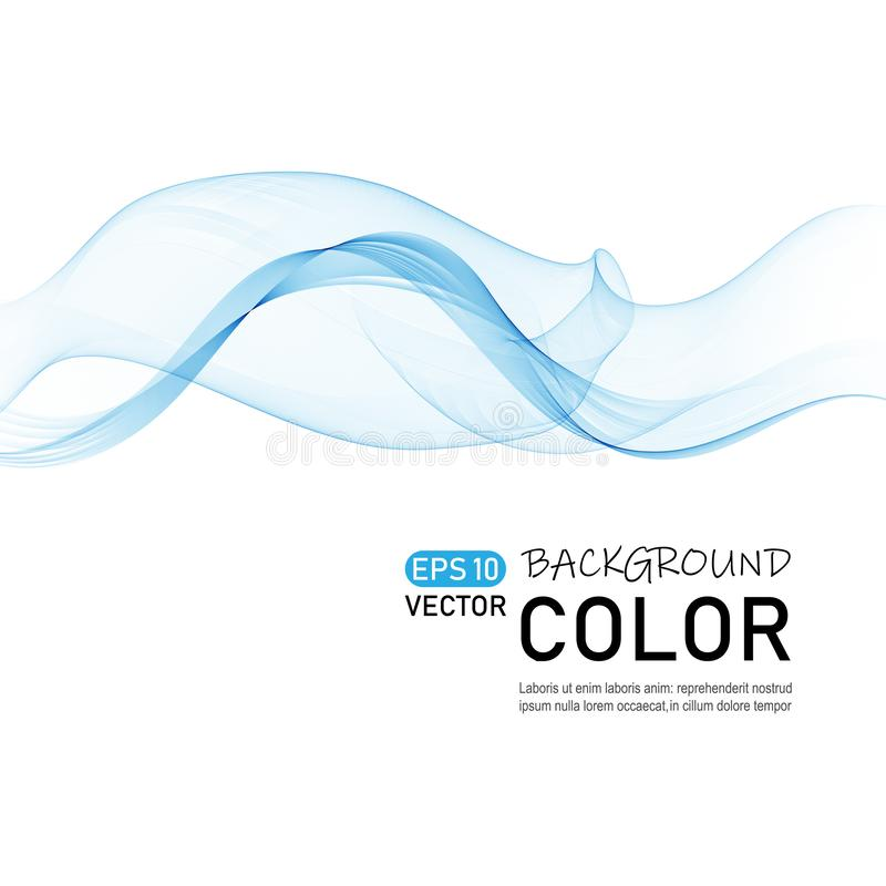 Abstract color wave vector. Curve line dynamic flow. Eps10 vector illustration stock illustration