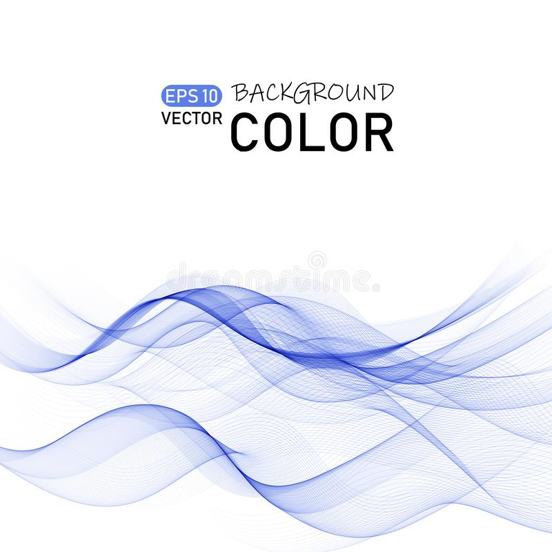 Abstract color wave vector. Curve line dynamic flow. Eps10 vector illustration royalty free illustration