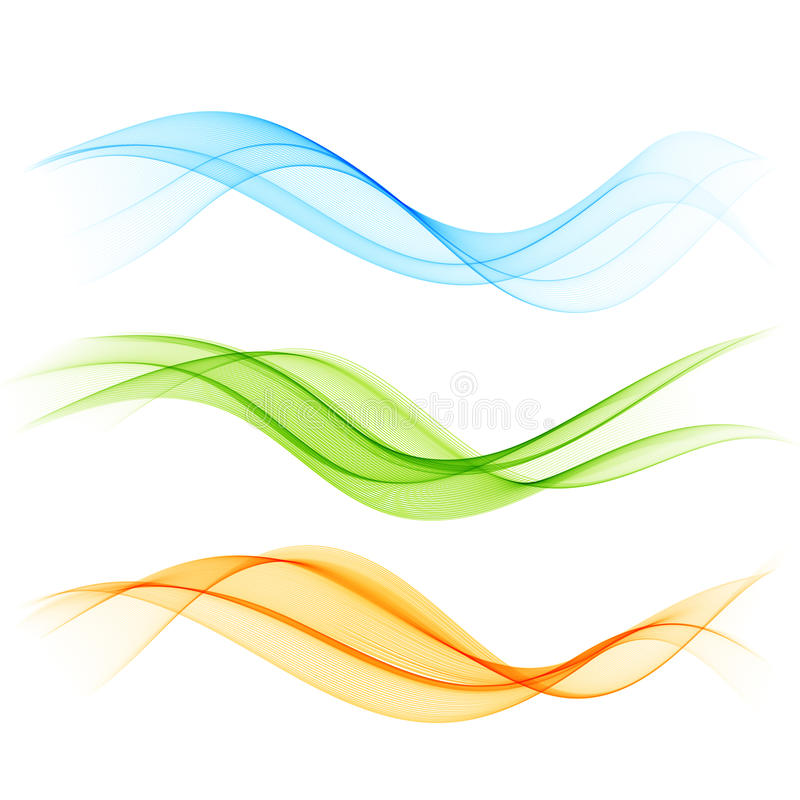 Abstract color wave stock illustration