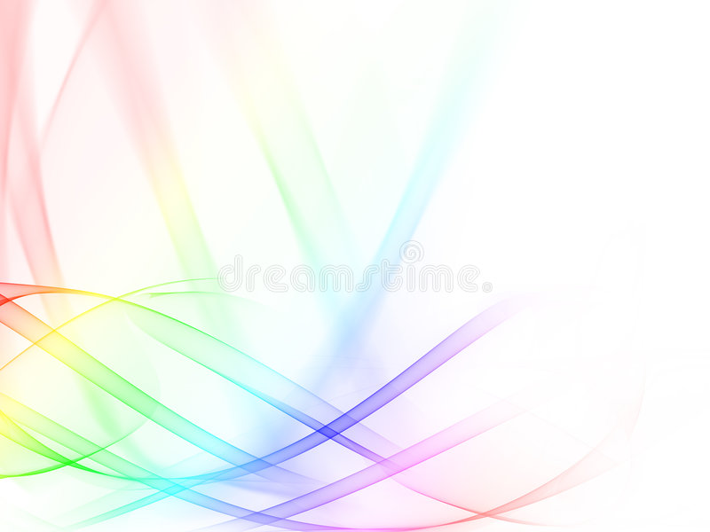 Abstract Color Wavy Royalty Free Stock Photo