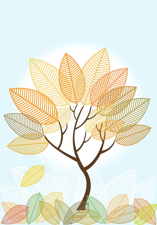 Free Abstract Colored Autumn Tree Stock Photography - 26808142