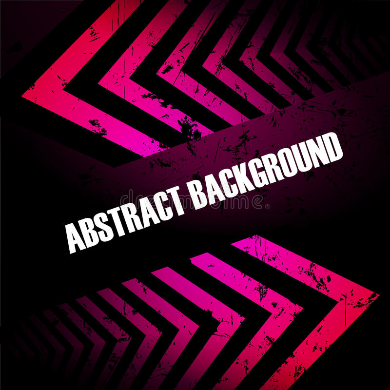 Abstract colored background with arrows stock illustration