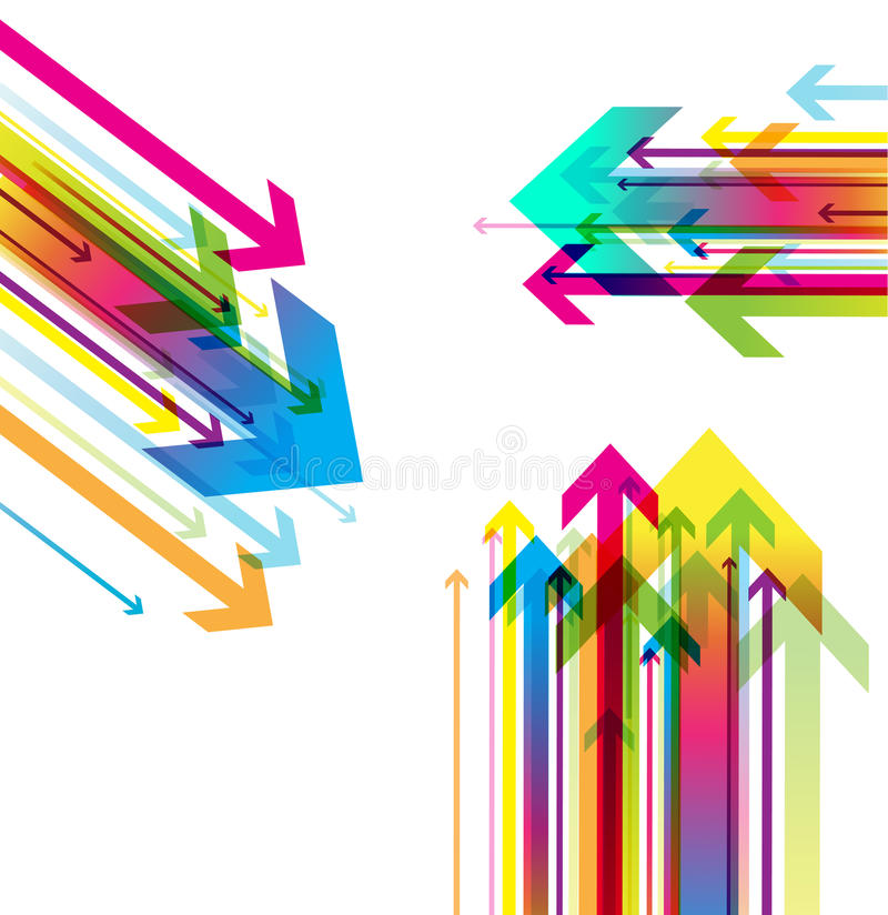 Abstract colored background with arrows. royalty free illustration