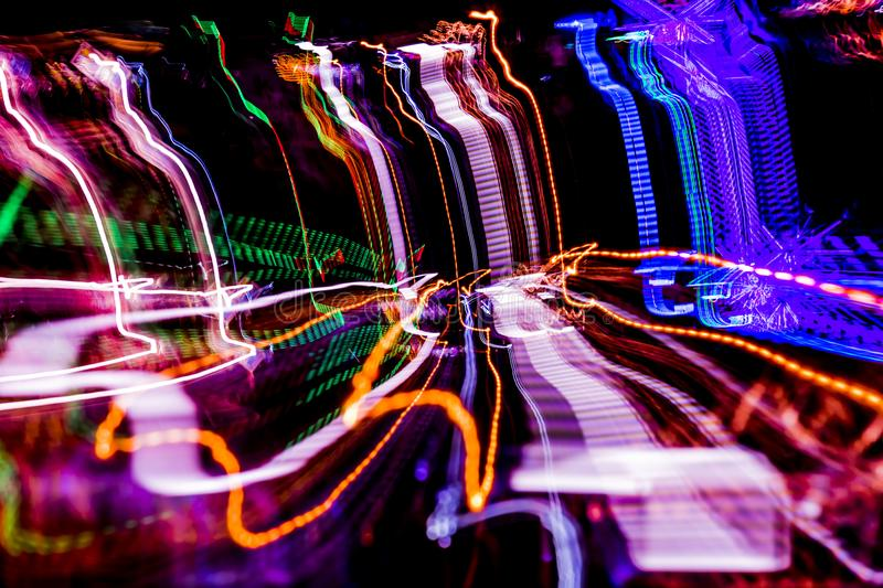 Abstract. Colored background. Playing with lights. Graphic projection of emotions, sound and music stock photo