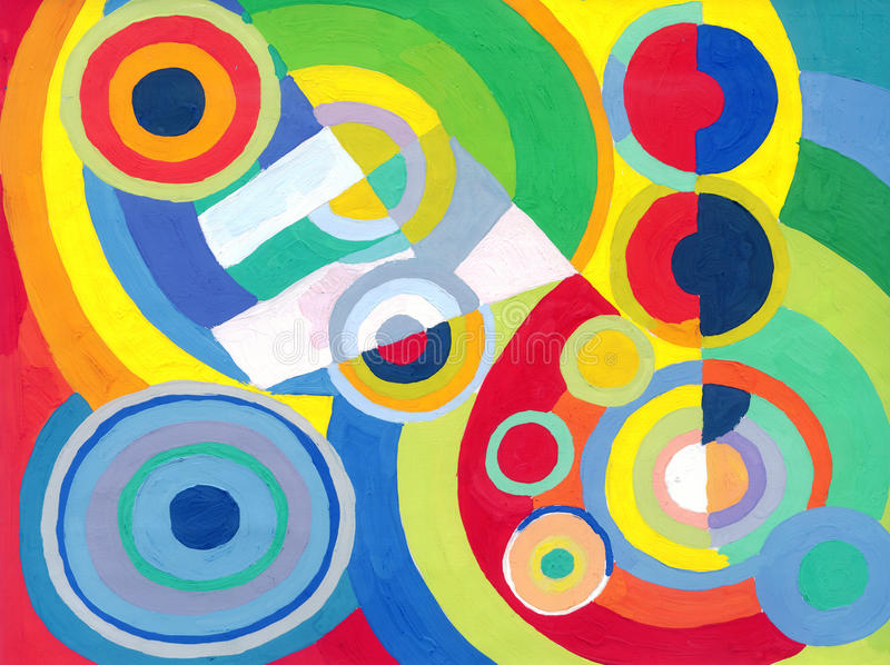 Abstract colored circles and rings vector illustration