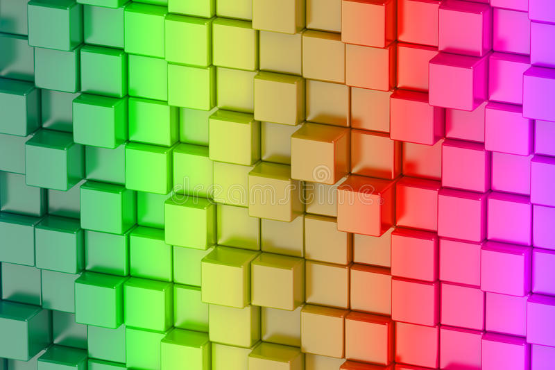 Abstract colored cubes art background. Abstract colored cubes background art vector illustration