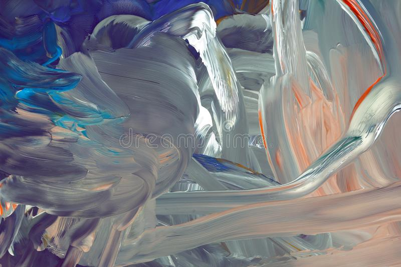 Abstract colored drawing with gouache on canvas royalty free stock images
