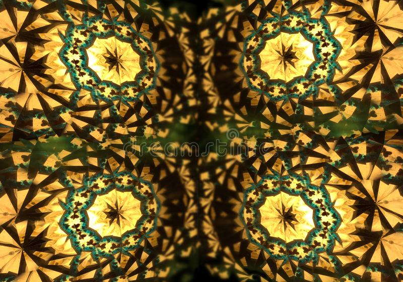 Abstract background. Main colors: yellow, black, brown and green royalty free illustration