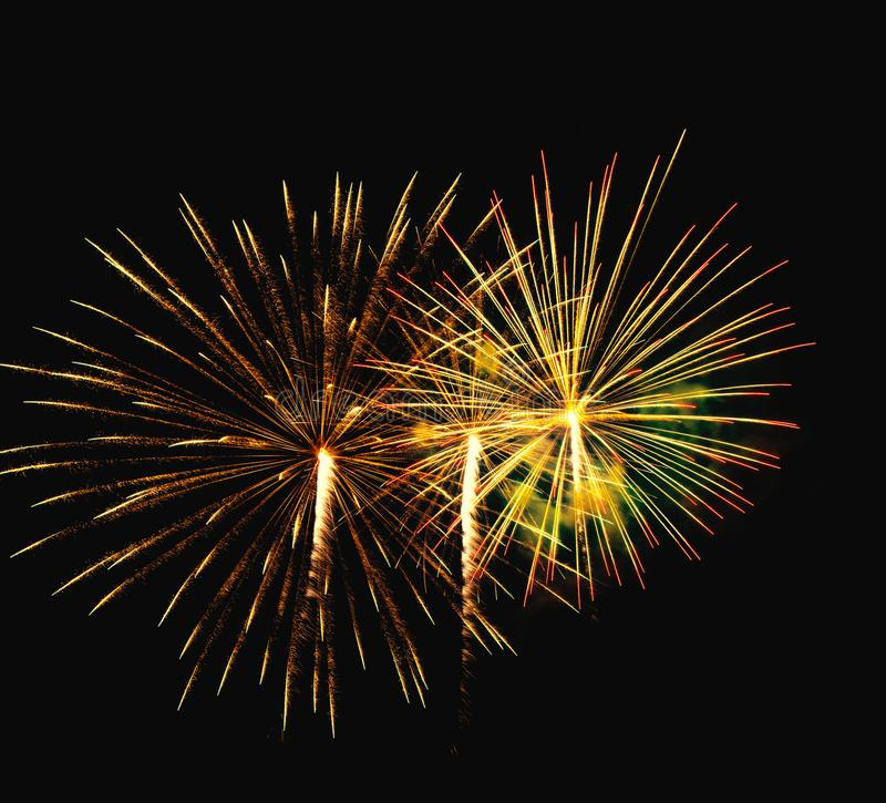 Abstract colored firework background used for overlay new year f stock images