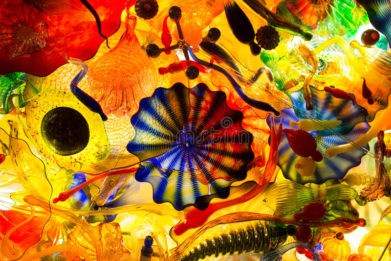 Abstract colored glass royalty free stock photos