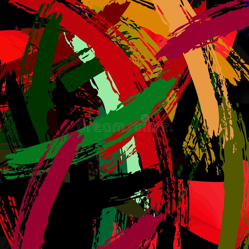 Abstract colored grunge texture of chaotic brush strokes for design of wallpaper, poster, illustration. stock photography