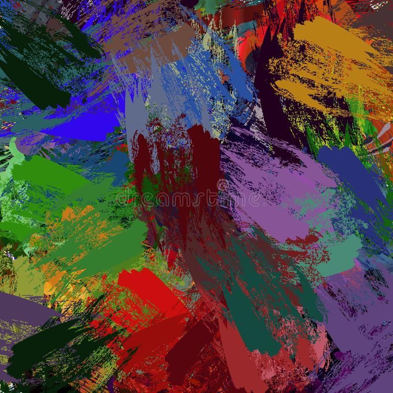 Abstract colored grunge texture of chaotic brush strokes for design of wallpaper, poster, illustration. royalty free stock photos