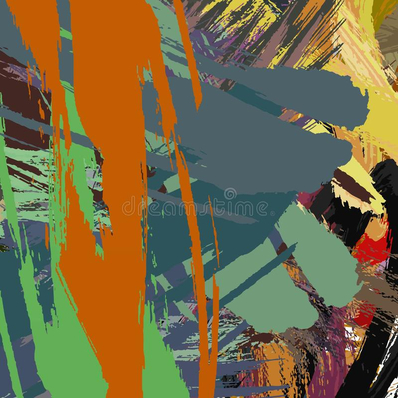 Abstract colored grunge texture of chaotic brush strokes for design of wallpaper, poster, illustration. stock images