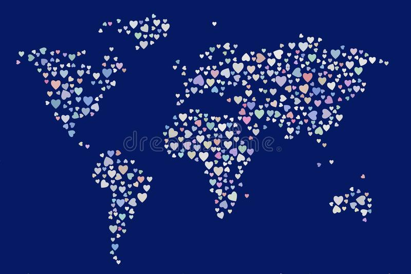 Abstract colored heart or love on world map shape pattern canvas download abstract colored heart or love on world map shape pattern canvas style gumiabroncs Image collections