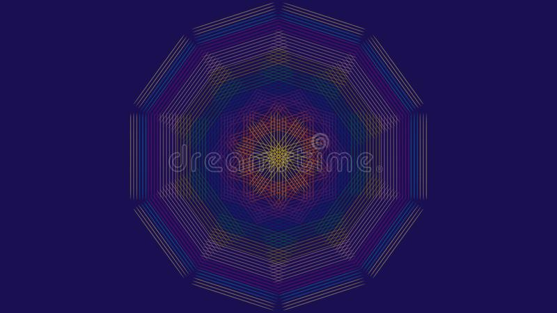 Abstract colored lines purple background royalty free illustration