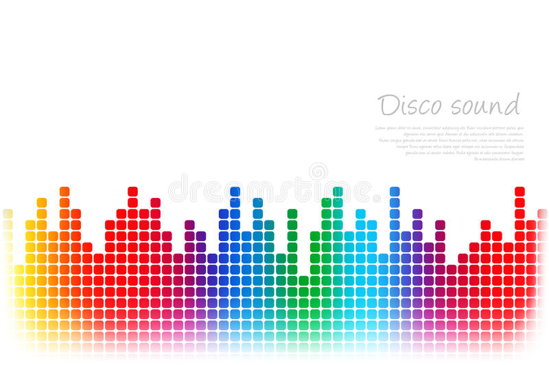Abstract colored music background royalty free illustration