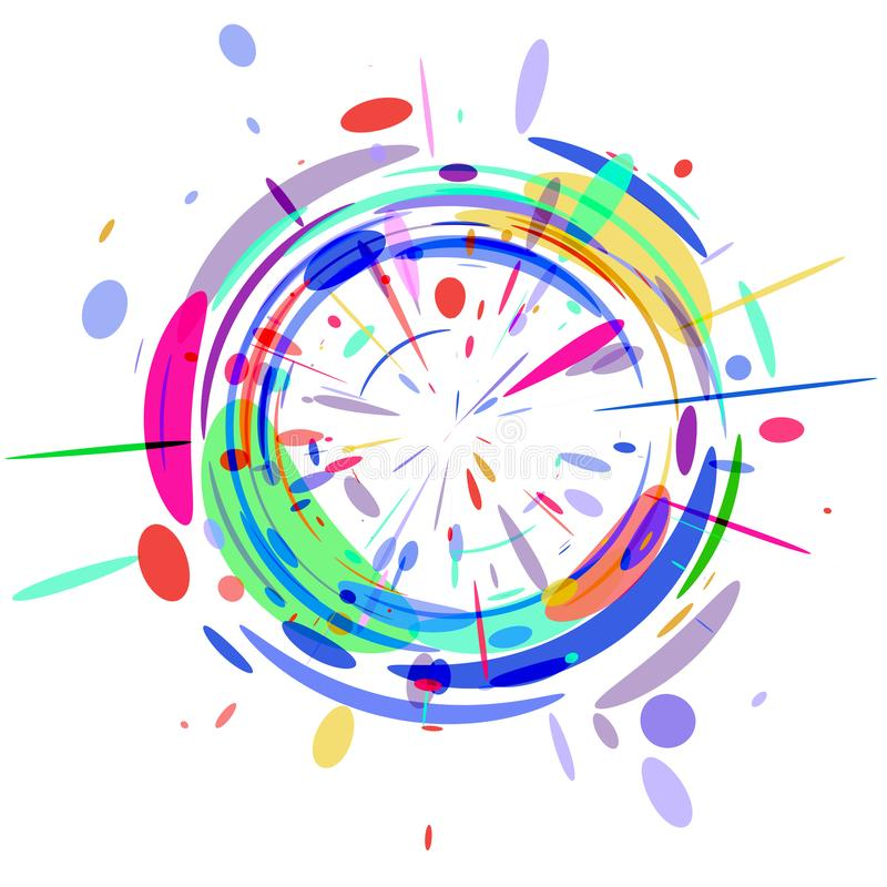 The abstract colored radial background . The abstract colored radial background for text, banner, poster, label, sticker, layout vector illustration