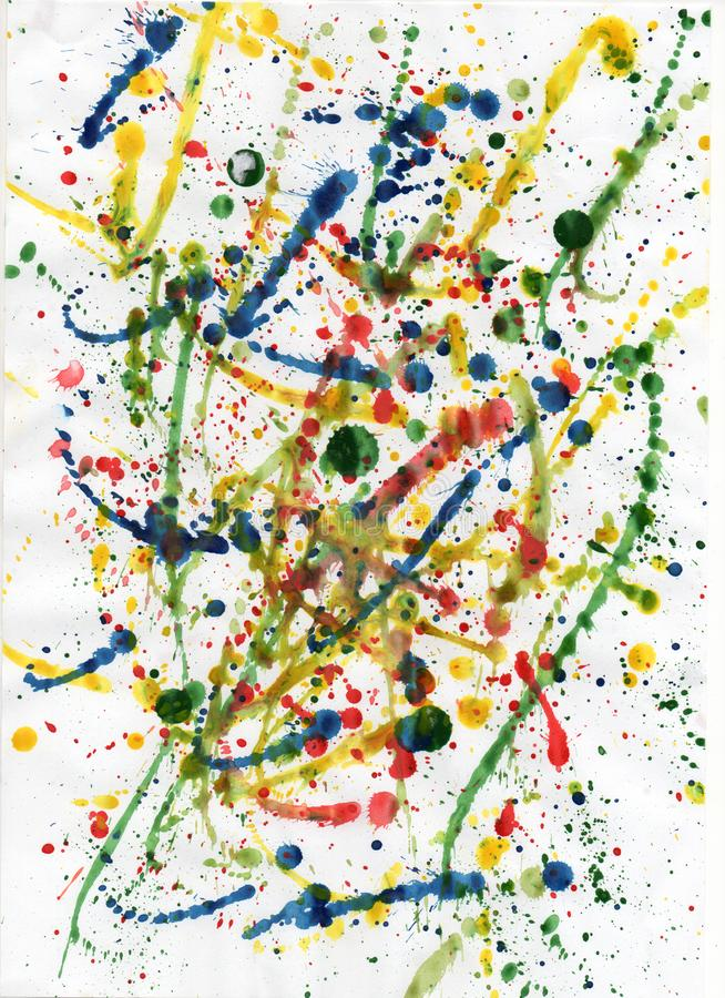 Abstract colored spots stock image