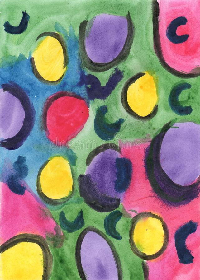Bright abstract colored spots stock image