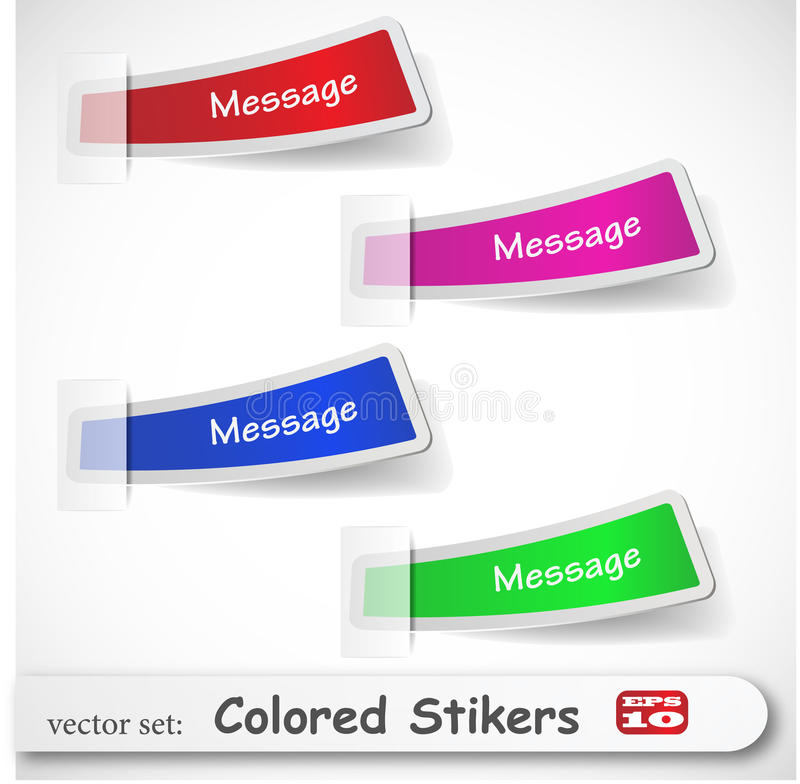 Download The Abstract Colored Sticker Set Stock Vector - Illustration of retail, graphic: 18424340