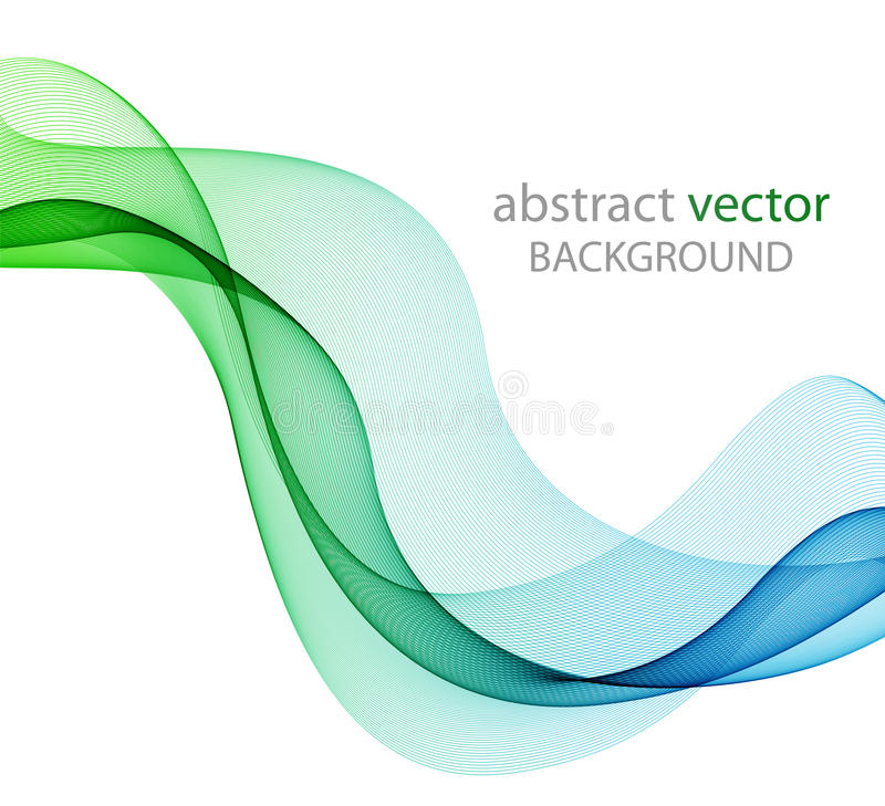 Abstract colored wave on white. Abstract color wave design element, concept decoration vector illustration