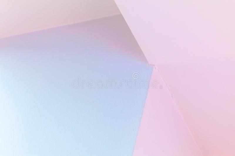 Abstract colorful architecture fragment. Abstract architecture fragment, background photo. Colorful interior design with corners stock image