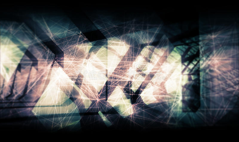 Abstract colorful artistic digital background cg royalty free illustration
