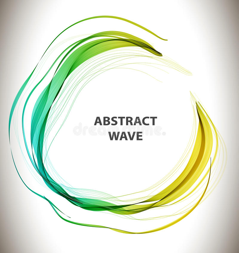 Abstract colorful background with circle wave. Illustration vector illustration
