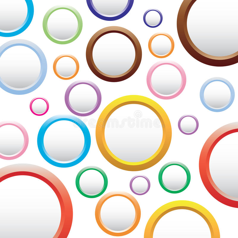 Abstract colorful background with circles. stock illustration