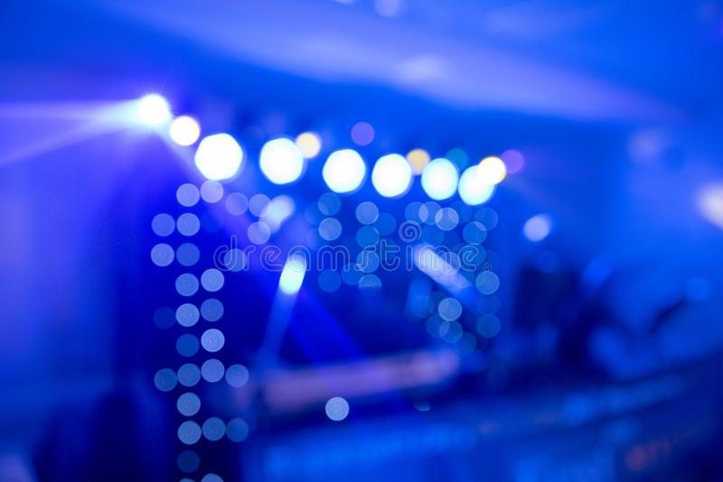 Abstract colorful background, dance party and light spotlights stock image