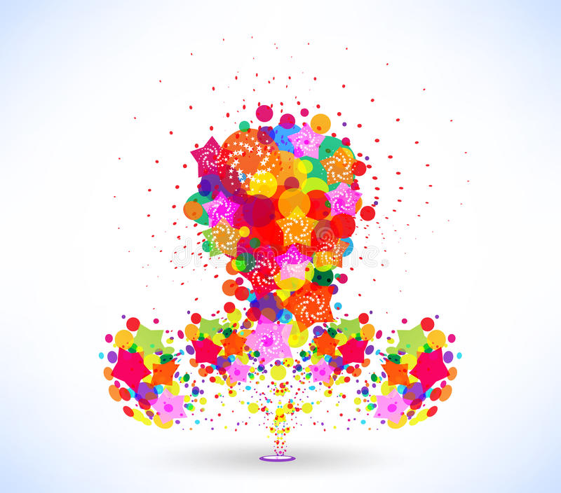 Abstract colorful background. For design stock illustration