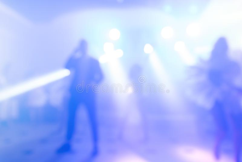 Abstract colorful background for design. Dance party in nightclub, show, light spotlights stock image