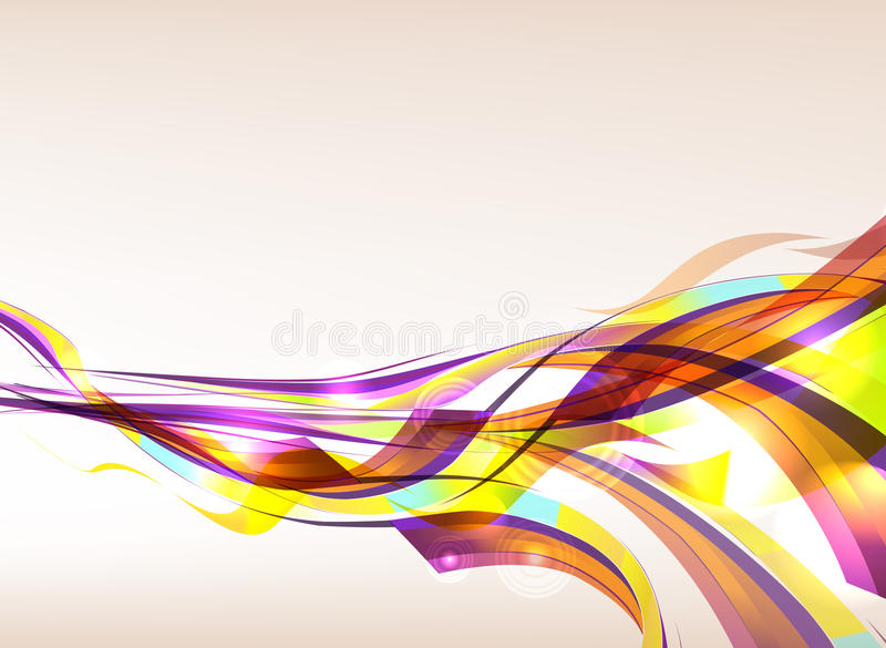Abstract Colorful Background Flow. Abstract colorful wave flow background vector illustration