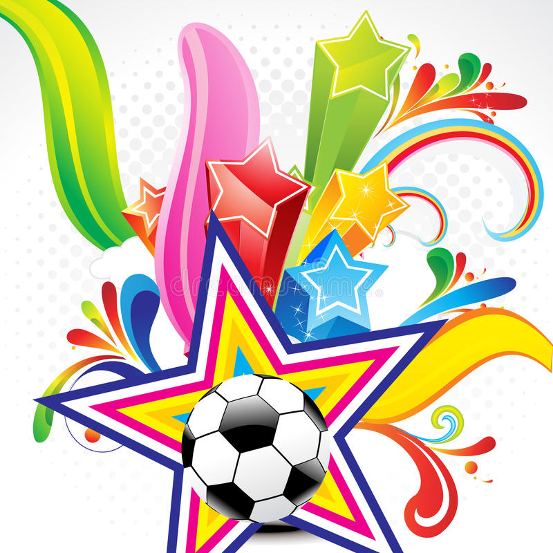 Download Abstract Colorful Background With Football Stock Photos - Image: 23824393