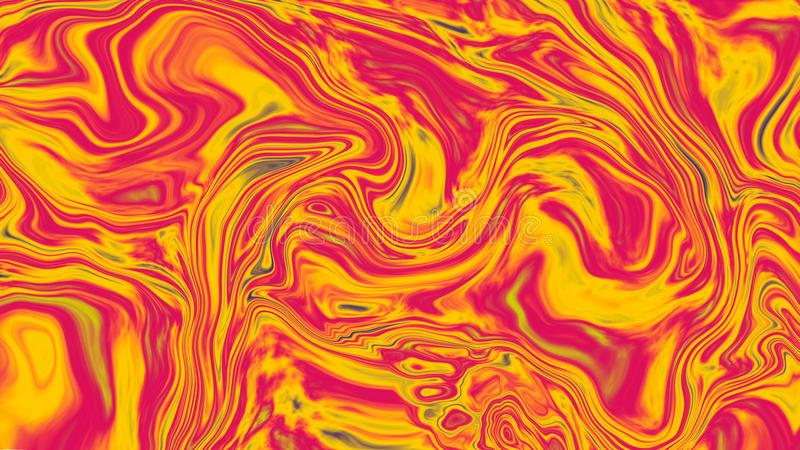 Abstract colorful background of gradient with visual illusion and wave oil effects, 3d rendering. Computer generating royalty free illustration