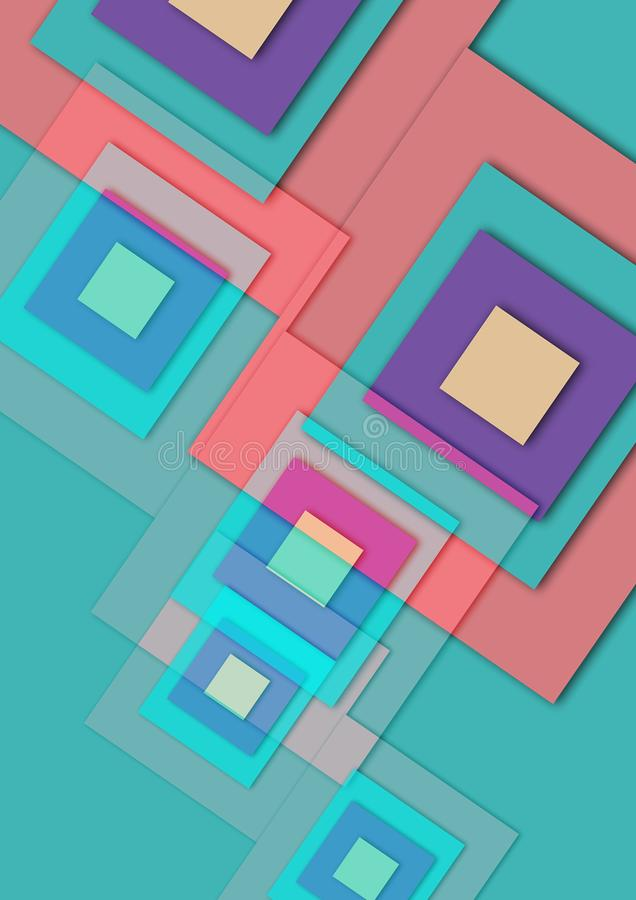 Images for Abstract colorful texture square background stock illustration