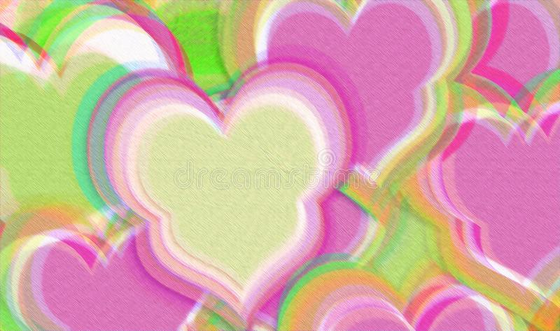 Abstract colorful love  background stock illustration