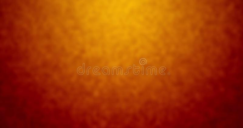 Abstract colorful background with grunge noise grain texture and vivid radial color gradient of red, orange, brown and yellow stock illustration