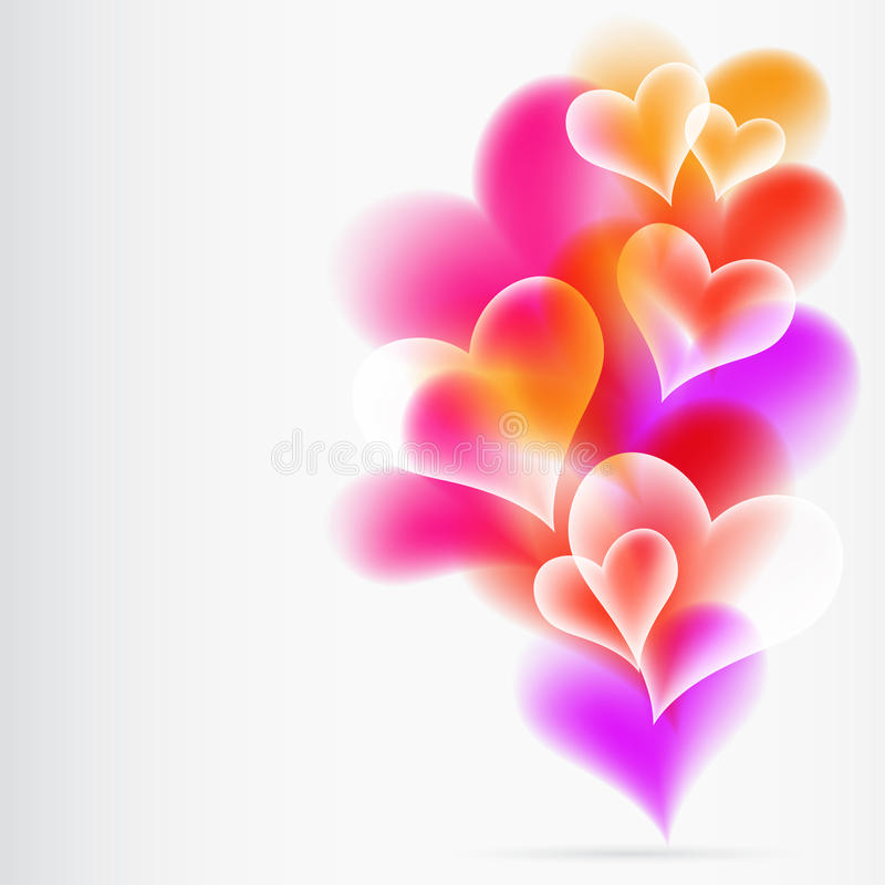 Abstract Colorful Background from heartes. stock illustration