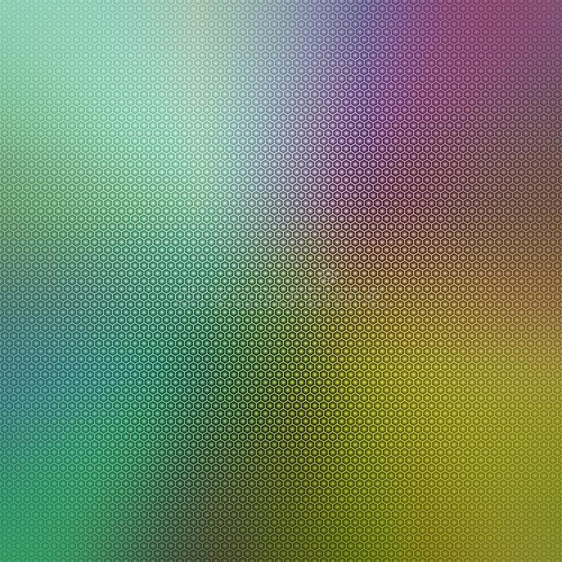 Abstract colorful background image with a hexagonal honeycomb grid overlay. stock photos