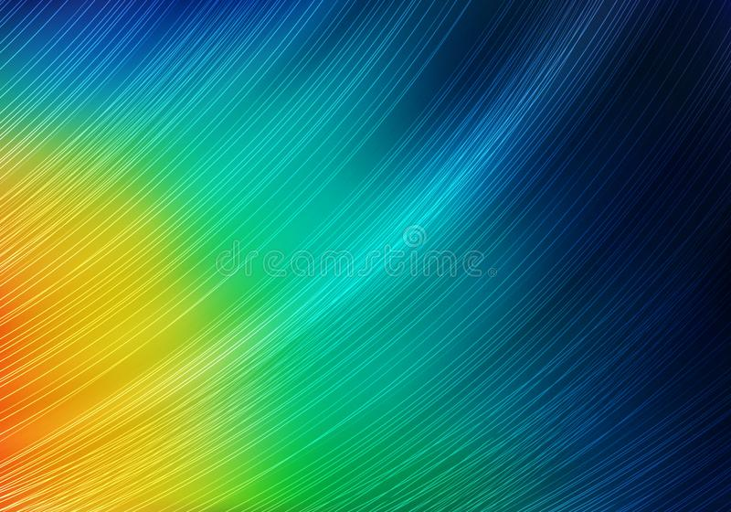 Abstract Colorful Background with Lines and Gradient. Bright Vector Minimalist Texture. Feather of ExoticTropical Bird. stock illustration