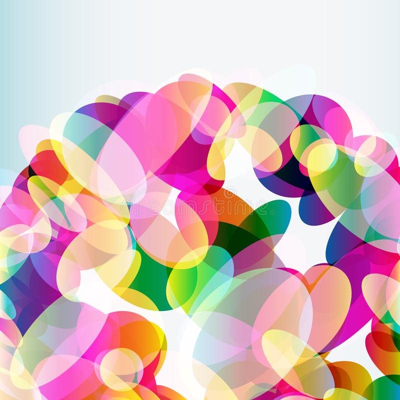 Abstract colorful background made of transparent elements. Abstract colorful  background made of transparent elements. Vector royalty free illustration