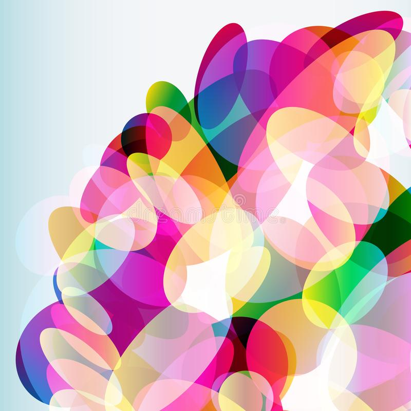 Abstract colorful  background made of transparent elements. Vector illustration vector illustration