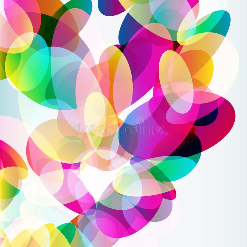 Abstract colorful  background made of transparent elements. Vector vector illustration